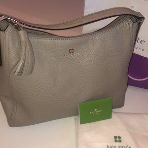 EUC Kate Spade Taupe Leather Shoulder Bag